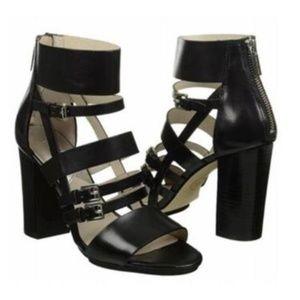 Michael Kors Winston Block Heeled Sandal Pumps 7.5